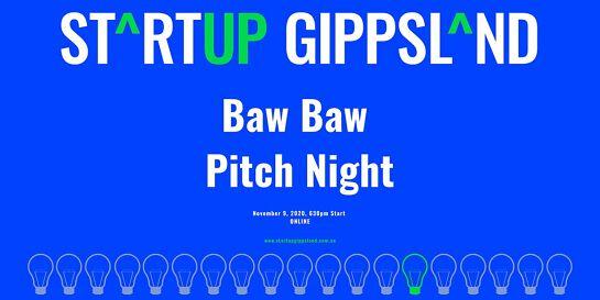 Startup Gippsland - Baw Baw Pitch Night