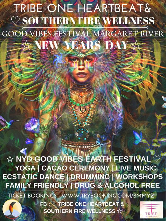 NEW YEARS DAY ☆ GOOD VIBES EARTH FESTIVAL MARGARET RIVER