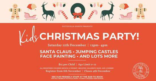 Kids Christmas Party - Pottsville Sports