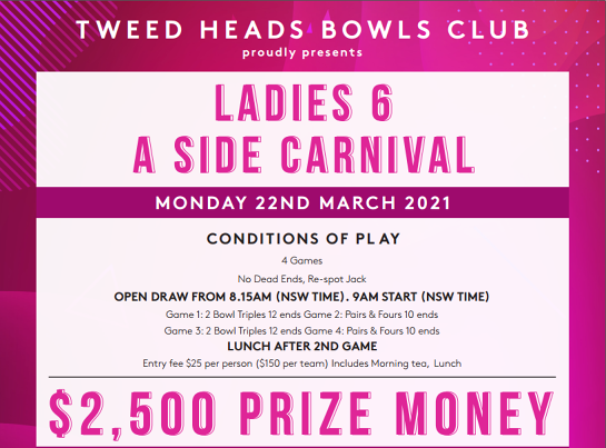 Ladies 6 A Side Carnival / 22 March 2021