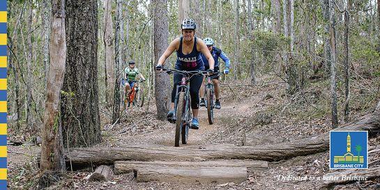 Girls and guys intermediate mountain bike skills