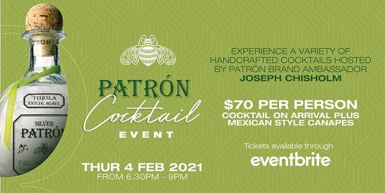 Patrón Cocktail Event @ The QA Hotel