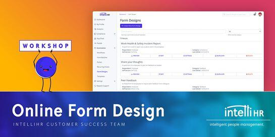 Free Monthly Workshop - Online Form Design - August 2019