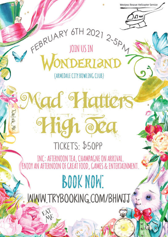 Westpac Rescue Helicopter Mad Hatters High Tea
