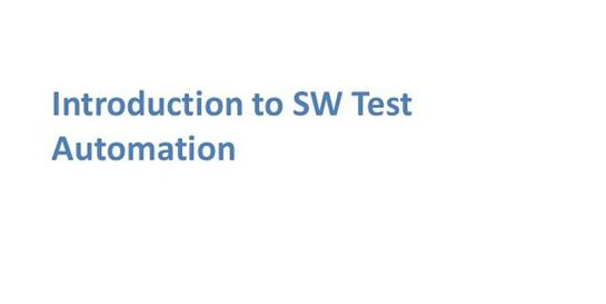 Introduction To Software Test Automation 1 Day Training in Melbourne