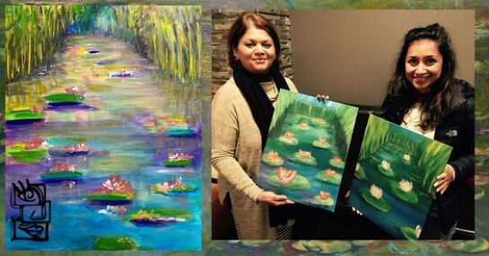 Painting in the Park Class: Monet Water Lillies