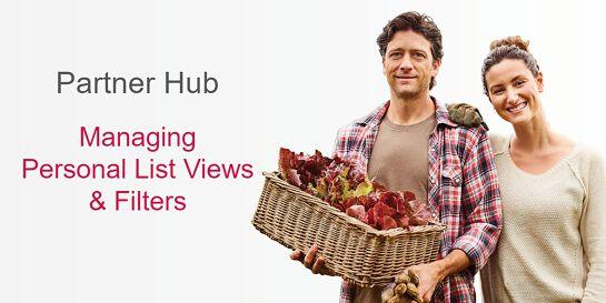 PARTNER HUB MANAGING LIST VIEWS & FILTERS