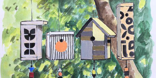 Bauhaus Birdhouse! For Littlies
