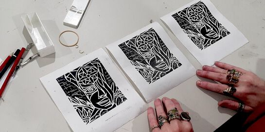 Intro to Linocut with Emilie
