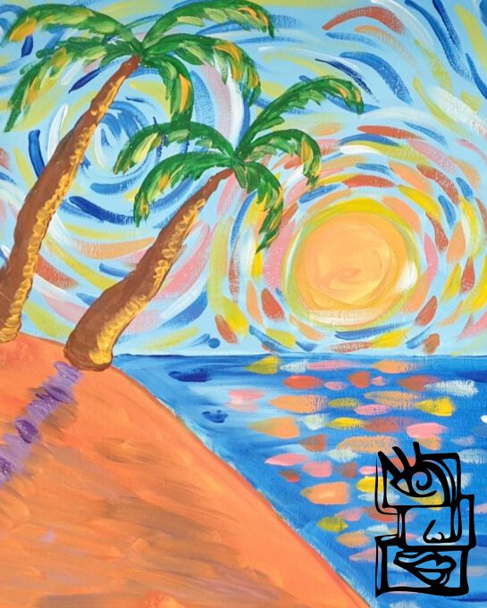Painting in the Park Class: Tropical Getaway
