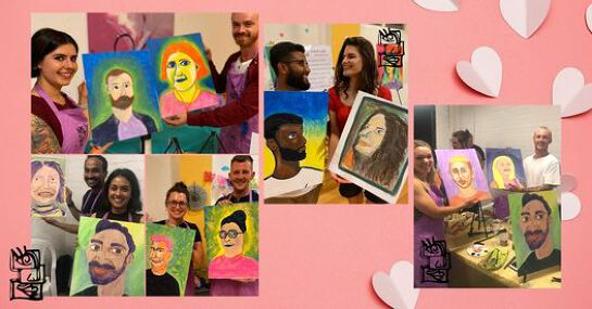 Couple Painting Class for Valentine's Day