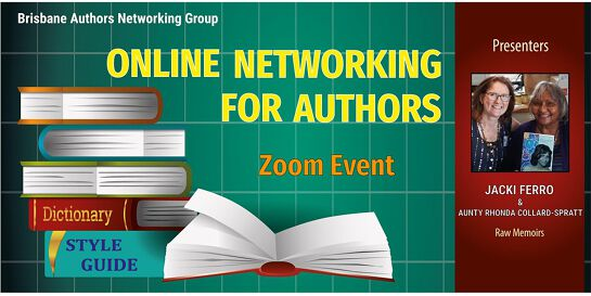 Online author networking event