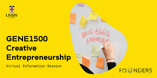 GENE1500 Creative Entrepreneurship Virtual Information Session