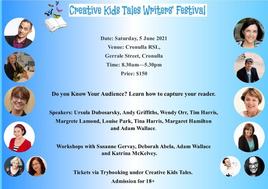 Creative Kids Tales Writers' Festival - 5 June 2021.