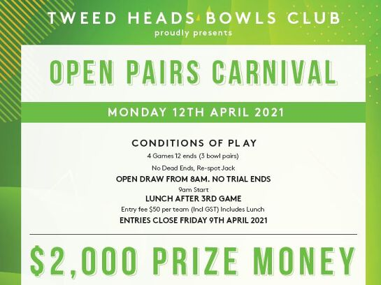 Open Pairs Carnival / 12 April 2021
