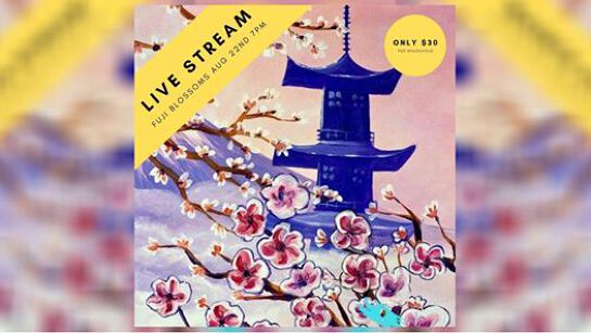 Cork and Canvas: Fuji Blossoms Live Stream Painting