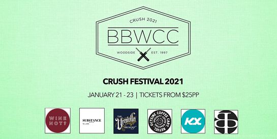 CRUSH Festival 2021 at Barristers Block Wines Cricket Club