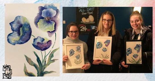 Paint and Sip Class: Watercolour Poppies