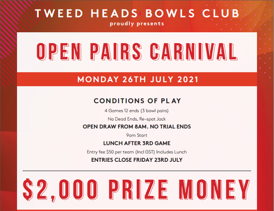Open Pairs Carnival / 26 July 2021