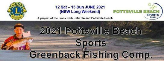Lions 2021 Pottsville Beach Sports Greenback Fishing Competition