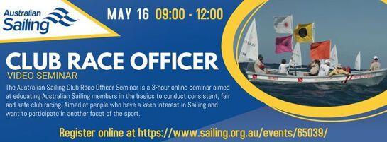 Club Race Officer - Online Video Seminar