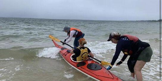 Emerging paddlers skills session