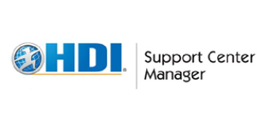 HDI Support Center Manager 3 Days Virtual Live Training in Melbourne