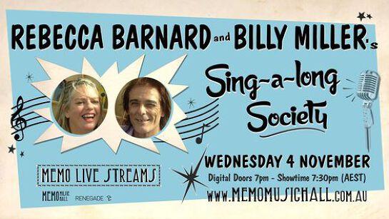 MEMO Live Streams: Rebecca Barnard & Billy Miller's Singalong