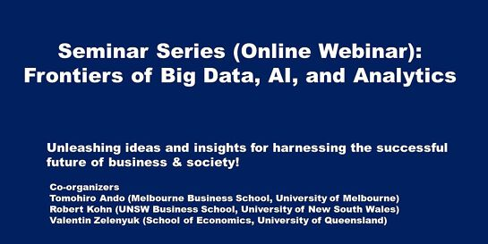 Frontiers of Big Data, AI, and Analytics