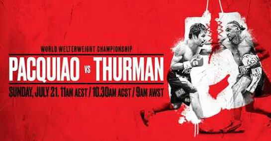 Pacquiao vs Thurman at Hotel Barkly