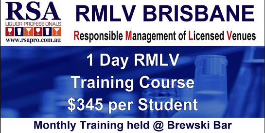 RMLV Training Course   Caxton Street, Brisbane