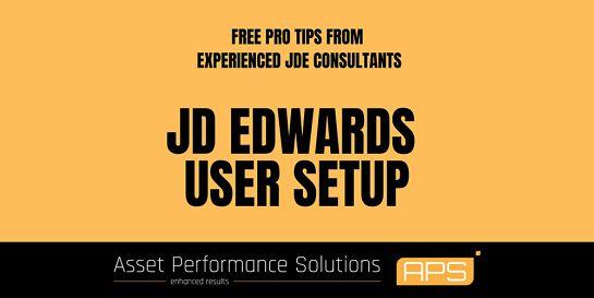 JDE Tips'n'Tricks - Setting up Users