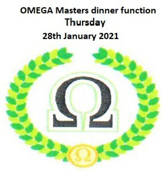 OMEGA Dinner - 7:00 pm - Thursday 28th January 2021