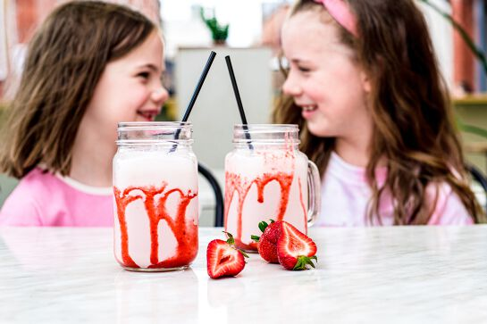 Homegrown Strawberry Milkshake at Hydrant Food Hall
