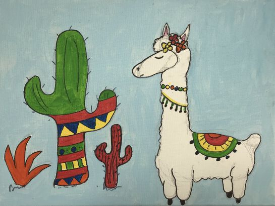 Sip and Paint Class: Loveable Llamas