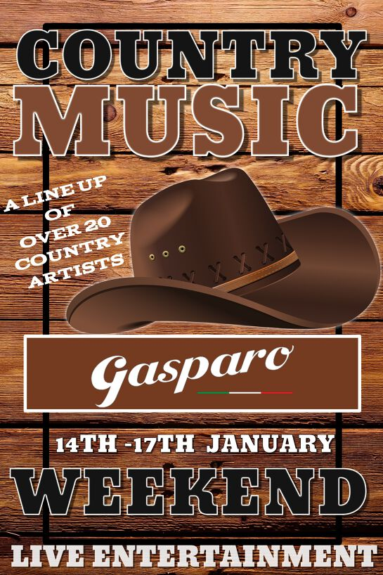 COUNTRY MUSIC FESTIVAL WEEKEND AT GASPARO