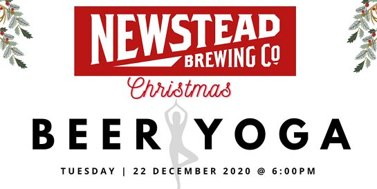 Christmas Beer Yoga at Newstead Brewing Co.