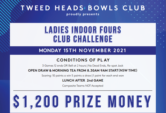 Ladies Indoor Fours Club Challenge / 15 November 2021