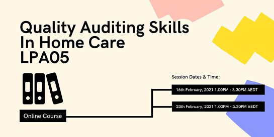 Quality Auditing Skills in Home Care LP05-210216