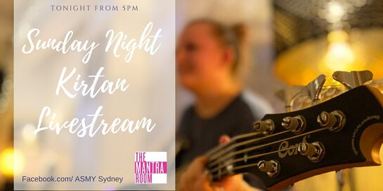 Sunday Night Live streamed Kirtan with Tota and Family