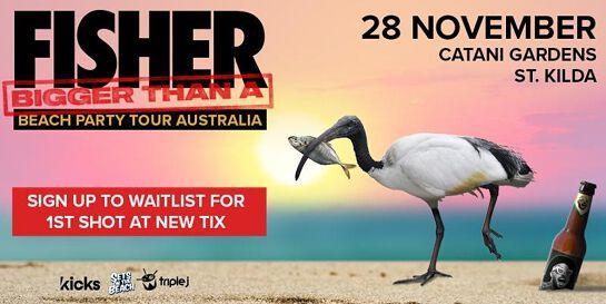 Fisher Australian Beach Party Tour | Catani Gardens, St Kilda