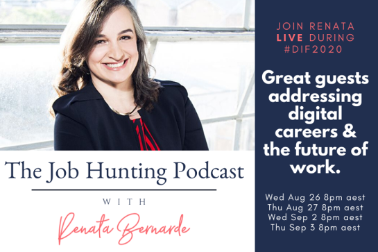The Job Hunting Podcast LIVE at #DIF2020
