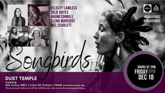 SONGBIRDS 2   Felicity Lawless, Mel Scarlett, Julie Hayes, Naomi Connell & Elena Marcigot