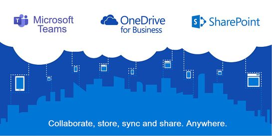 Cloud-based collaboration with Sharepoint, Teams and Onedrive