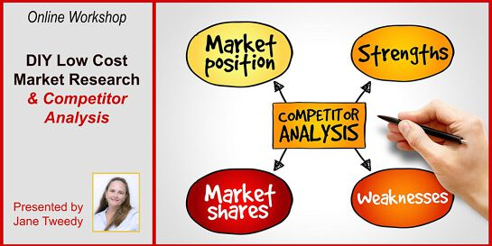 Online Workshop: DIY Low Cost Market Research and Competitor Analysis