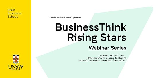 BusinessThink Rising Stars Webinar Series: Disaster Relief, inc