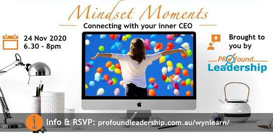 Mindset Moments - Connecting with your inner CEO