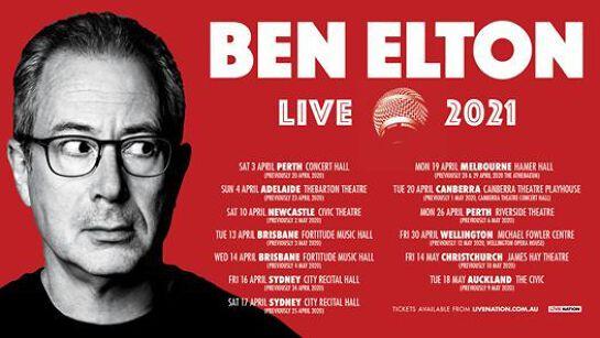 Ben Elton - Live 2020   Brisbane - Rescheduled