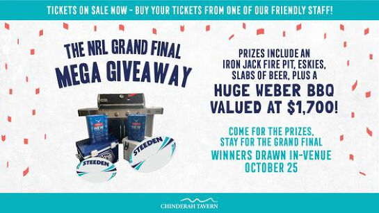 It's Grand Finals (and grand giveaways!) weekend at Chindy