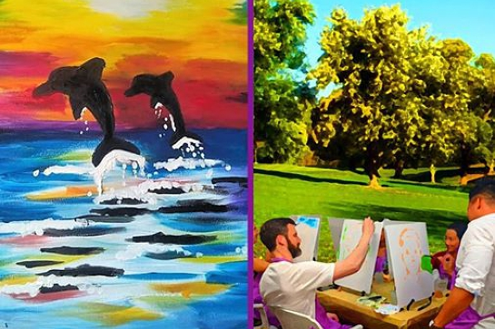 Paint in the Park - Outdoor Painting Class in Albert Park